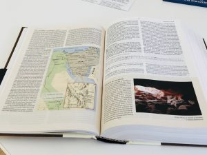 A map from the study bible
